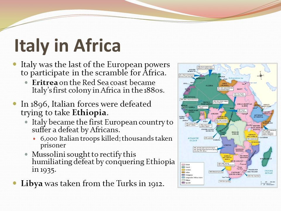 the use of european imperial power in africa Britain, france, germany, belgium, italy, portugal, and spain were competing for power within european power politics one way to demonstrate national preeminence was through the acquisition of territories around the world, including africa.