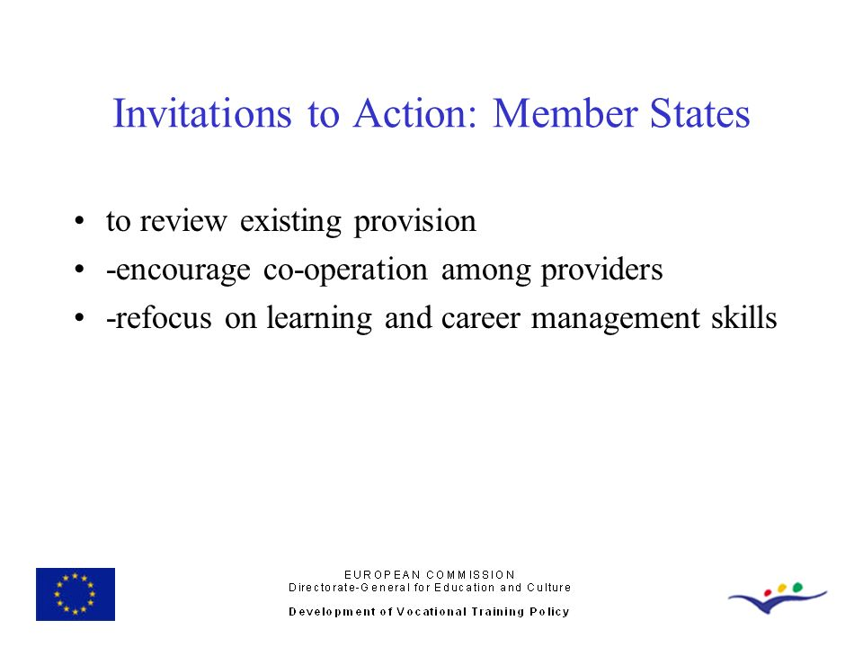 Invitations to Action: Member States
