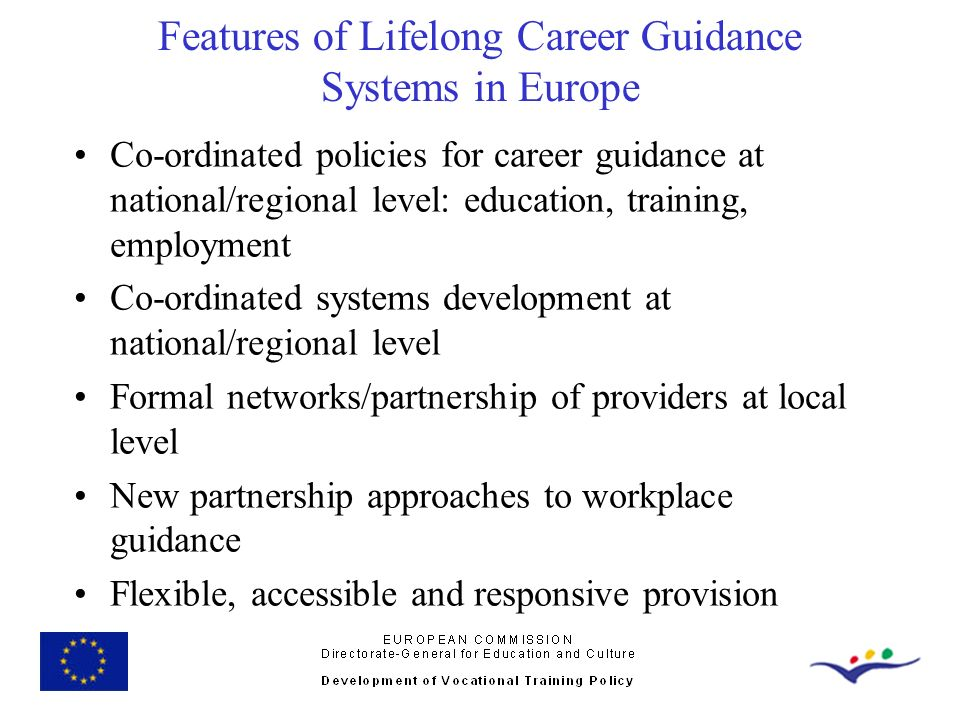 Features of Lifelong Career Guidance Systems in Europe