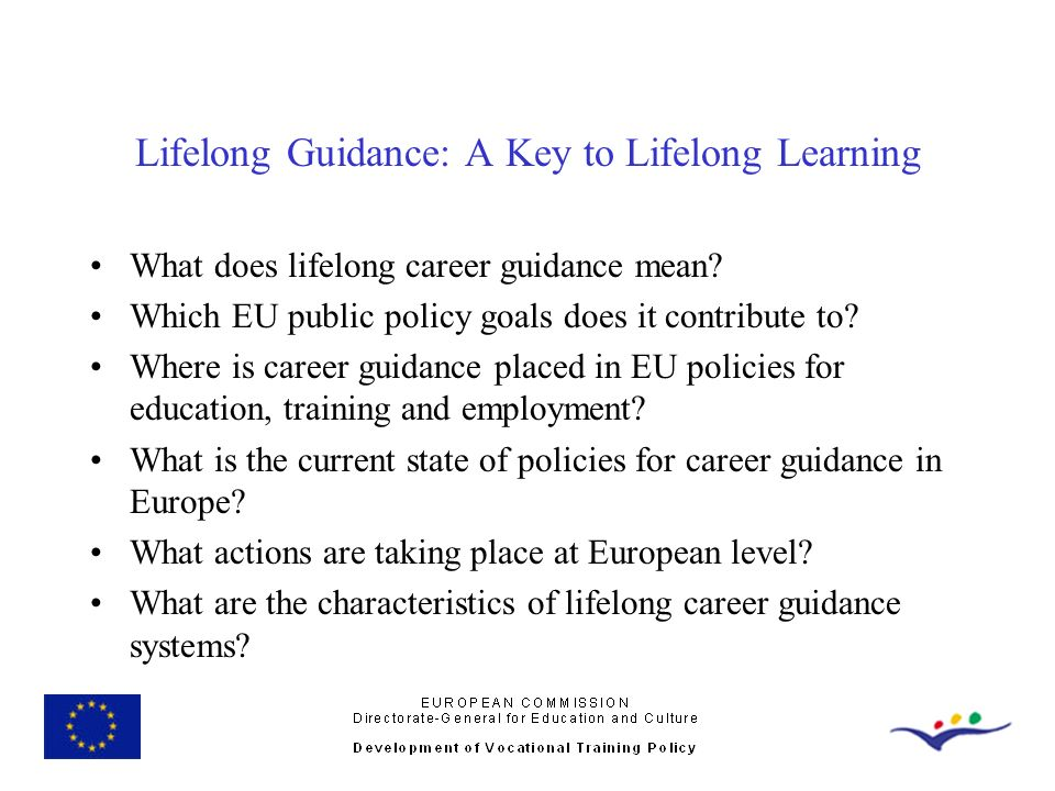 Lifelong Guidance: A Key to Lifelong Learning