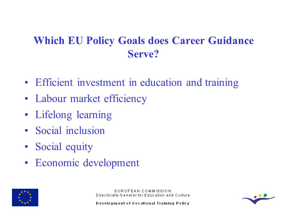 Which EU Policy Goals does Career Guidance Serve