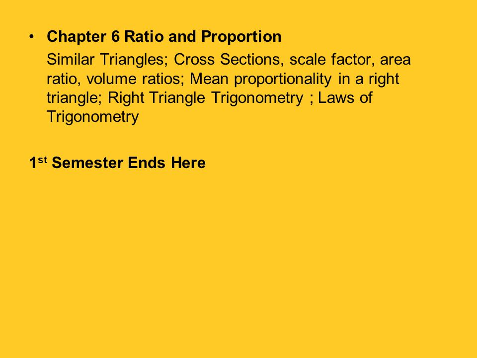Chapter 6 Ratio and Proportion