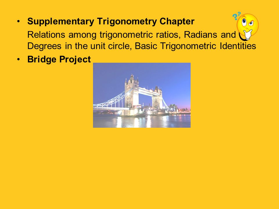 Supplementary Trigonometry Chapter