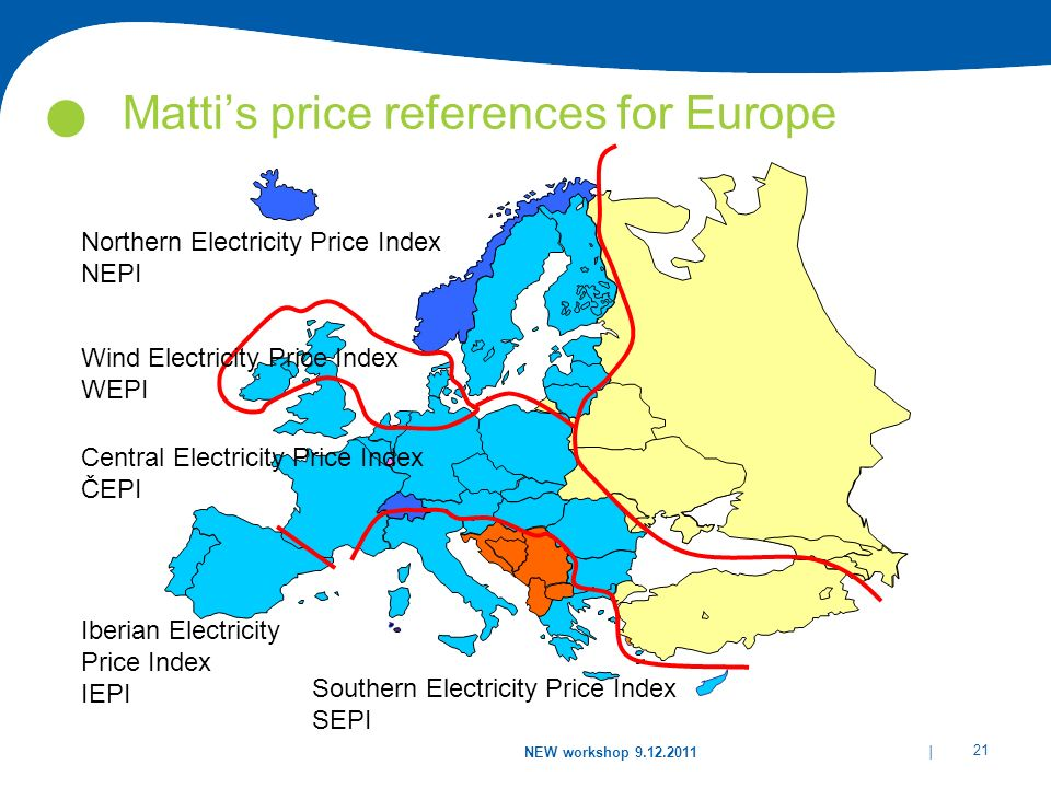 Matti's price references for Europe