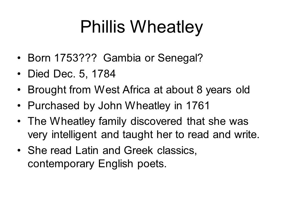 5 Important Facts About Phillis Wheatley Best Fact 2017: Phillis Wheatley Worksheet At Alzheimers-prions.com