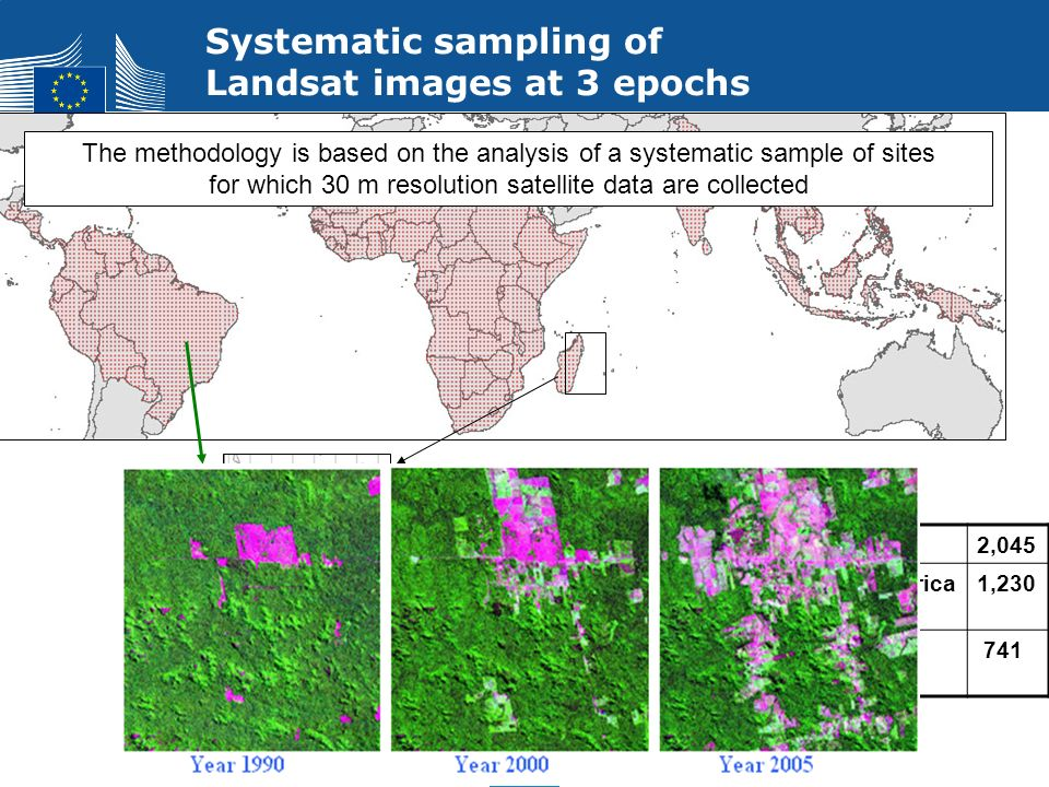 for which 30 m resolution satellite data are collected