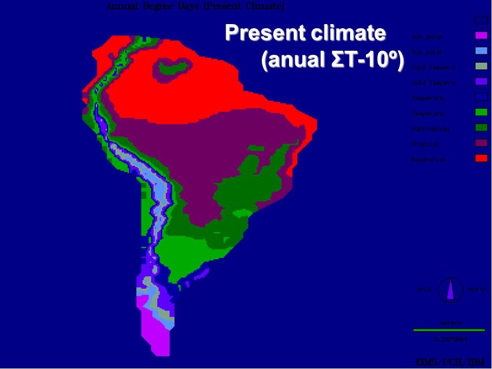 Present climate (anual ΣT-10º)