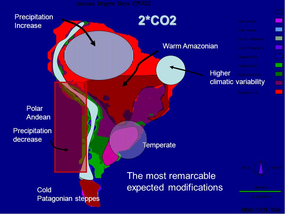 2*CO2 The most remarcable expected modifications Precipitation
