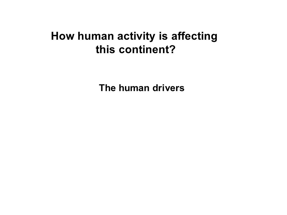 How human activity is affecting