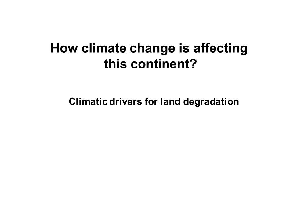How climate change is affecting