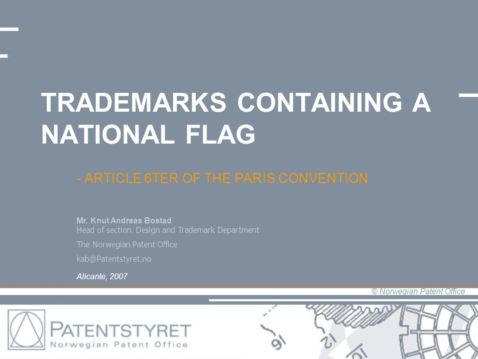 TRADEMARKS CONTAINING A NATIONAL FLAG