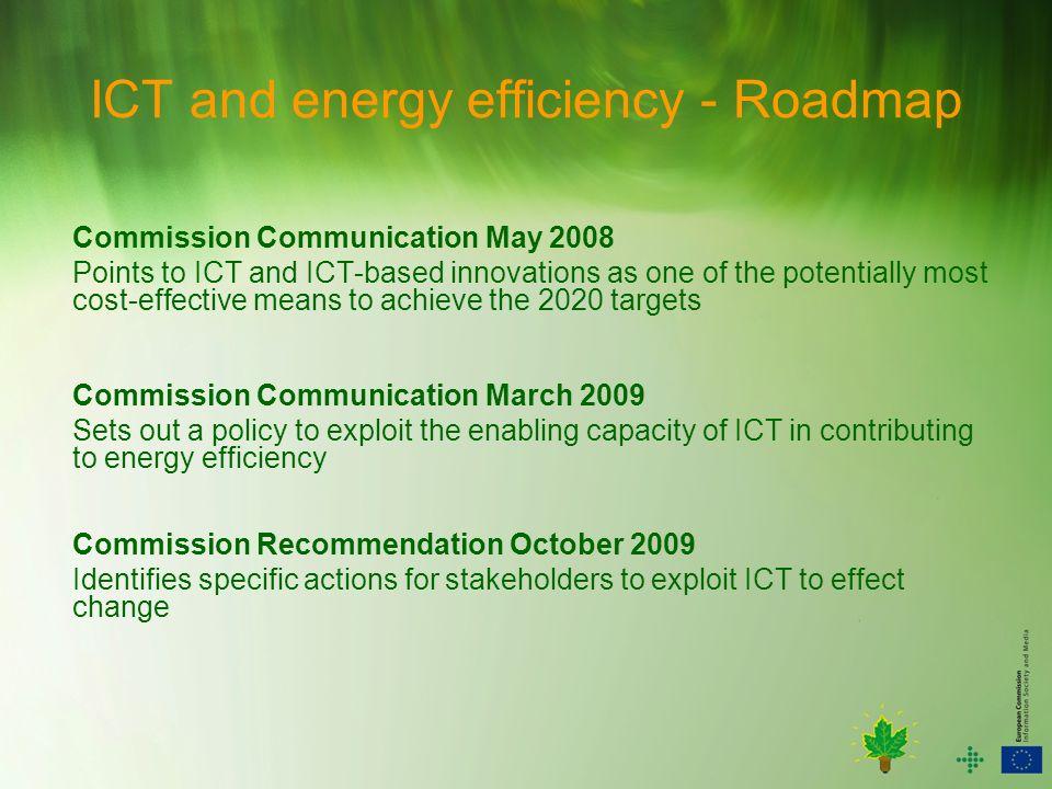 ICT and energy efficiency - Roadmap