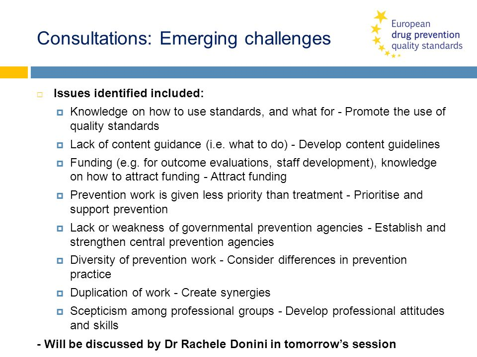 Consultations: Emerging challenges