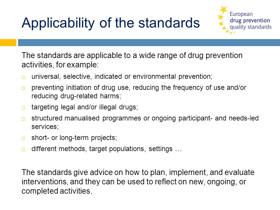 Applicability of the standards