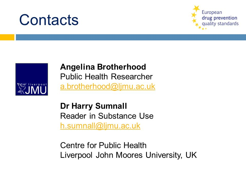 Contacts Angelina Brotherhood Public Health Researcher