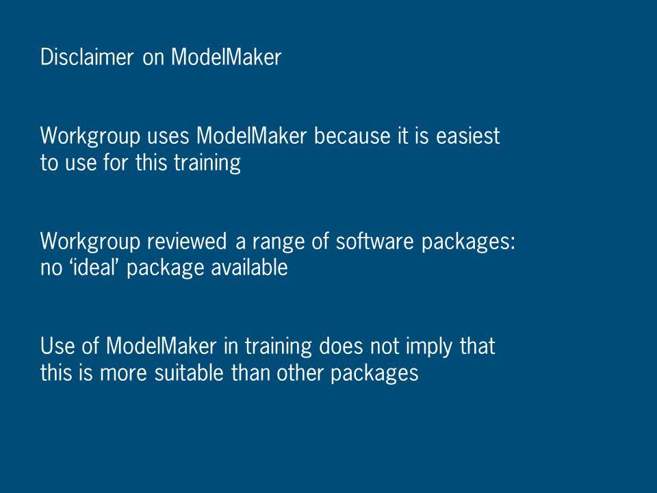 Disclaimer on ModelMaker