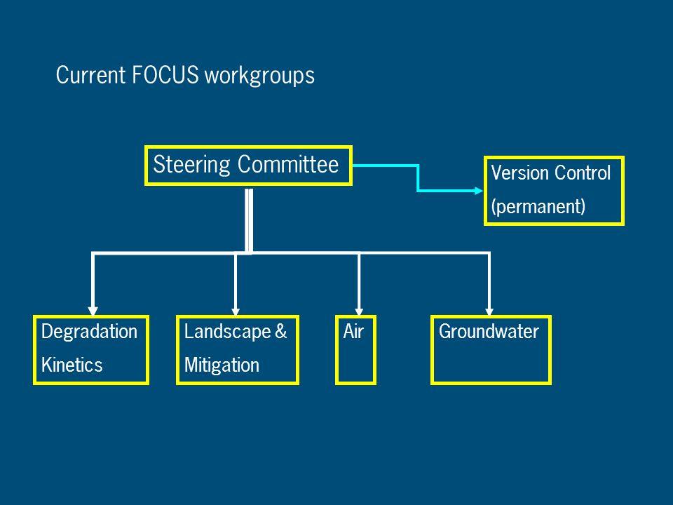 Current FOCUS workgroups