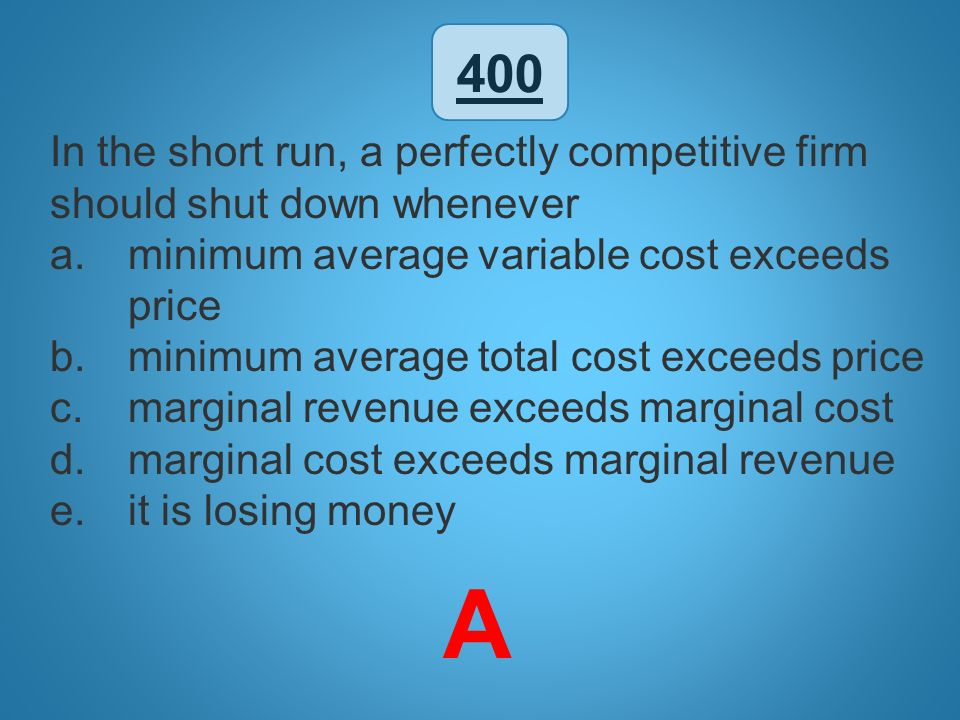 how to find minimum marginal cost