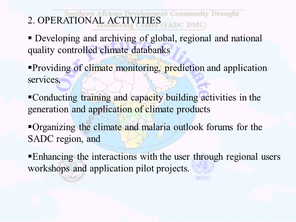 2. OPERATIONAL ACTIVITIES