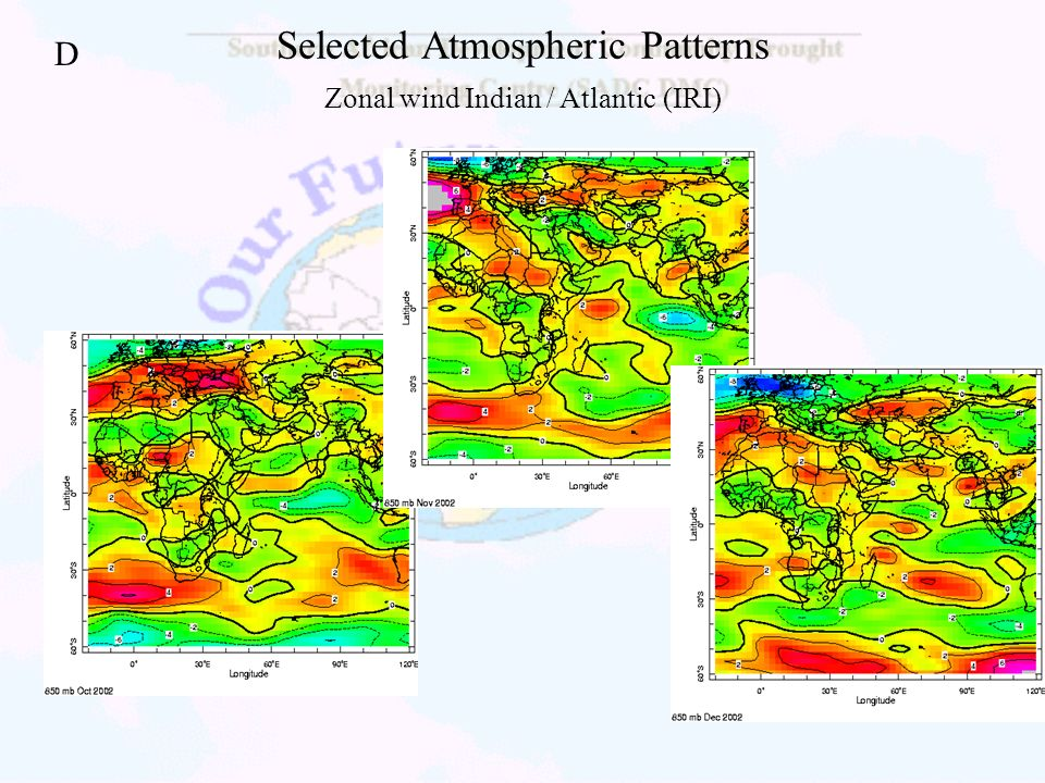 Selected Atmospheric Patterns Zonal wind Indian / Atlantic (IRI)