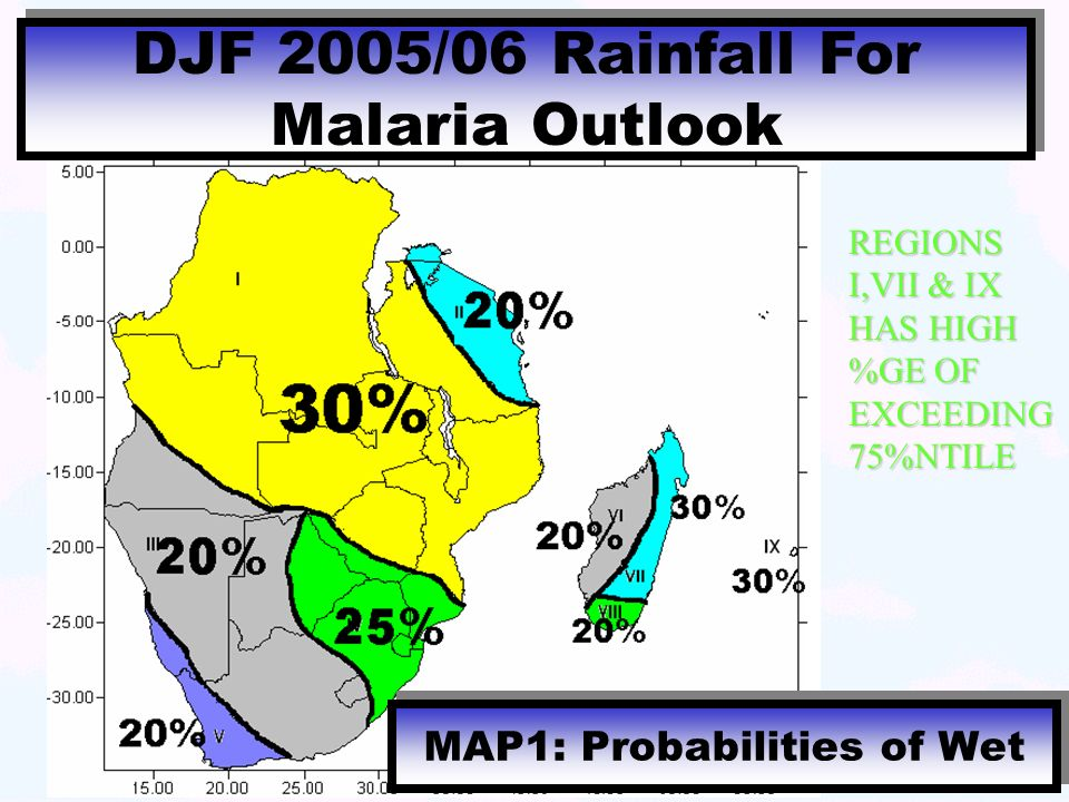 MAP1: Probabilities of Wet