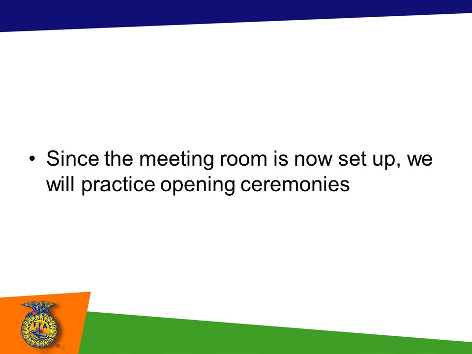 How To Set Up Ffa Meeting Room