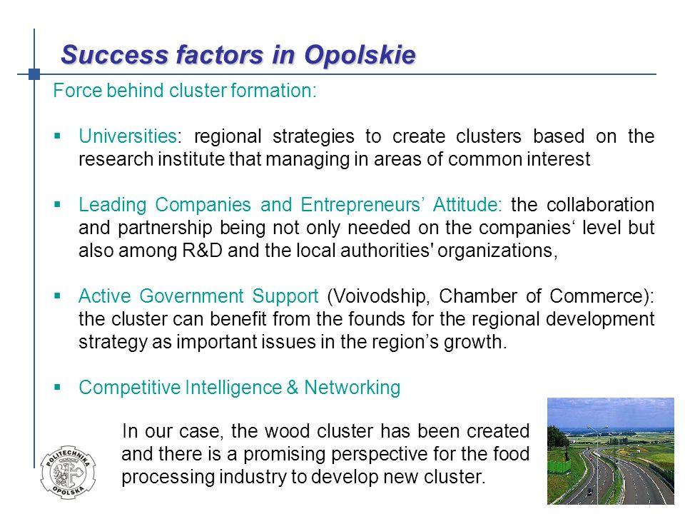 Success factors in Opolskie