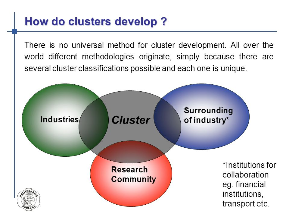 How do clusters develop
