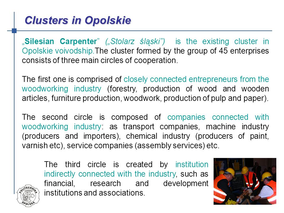 Clusters in Opolskie