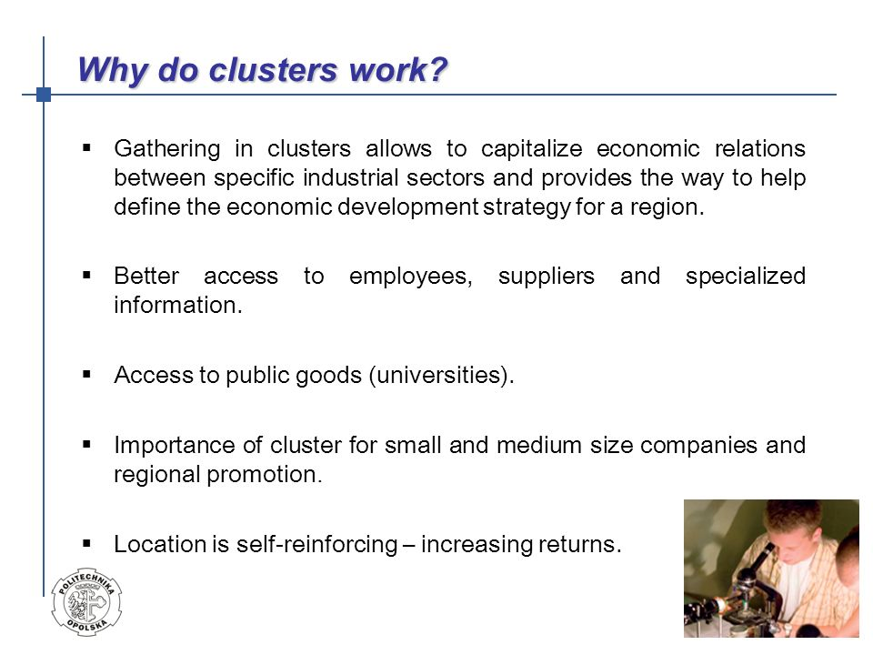 Why do clusters work