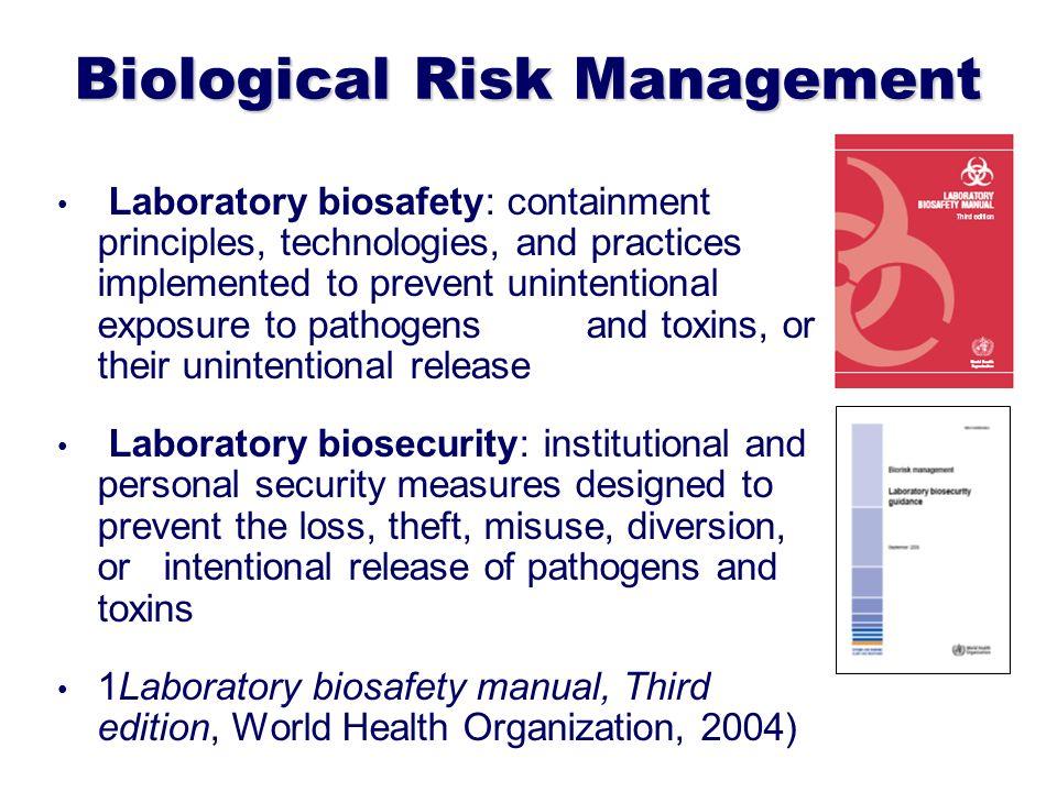 Biological Risk Management