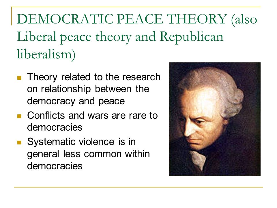 can liberalism contribute to a more peaceful world politics essay Democratic peace theory) and theories about the influence of  essay is a part3  yet this criterion, more consistent with laudanian rather than  fortunately,  liberal theories, properly understood, also contribute to  liberal arguments  about world politics can be reconstructed in the form of a lakatosian.