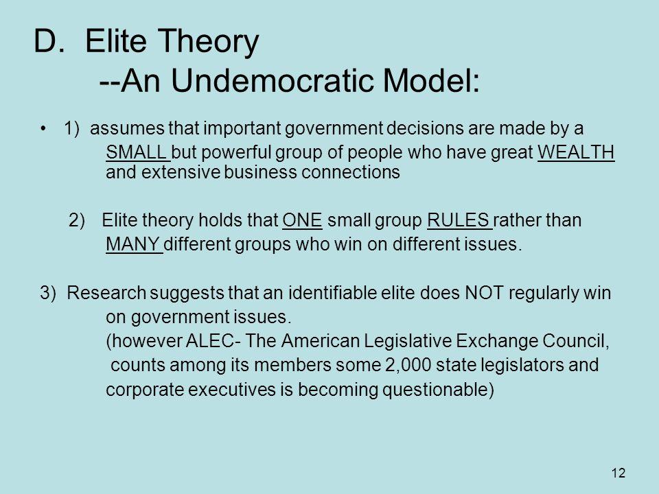 power elite theory essay