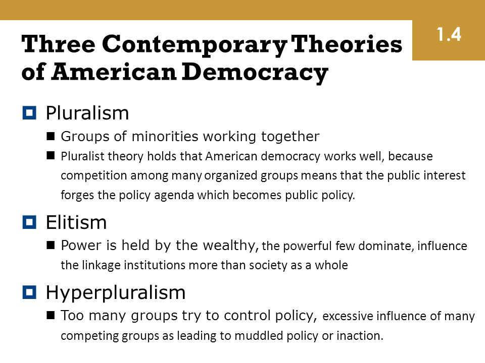 politicial theories of democracy work Political science: political science  important work of political culture was gabriel almond and  followed in this tocquevillian tradition in making democracy.