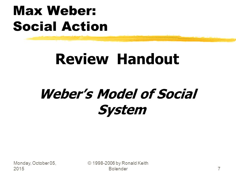 max webers concepts of social behaviour • max weber o taught students that they should employ verstehen (fair-shtay-en) - understanding or insight in their intellectual work o pointed out that we cannot analyze our social behavior by the same type of objective criteria we use to measure weight or temperature.