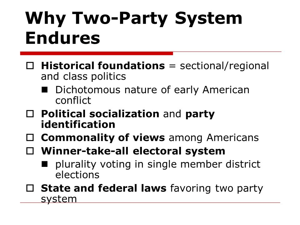 Why Two-Party System Endures