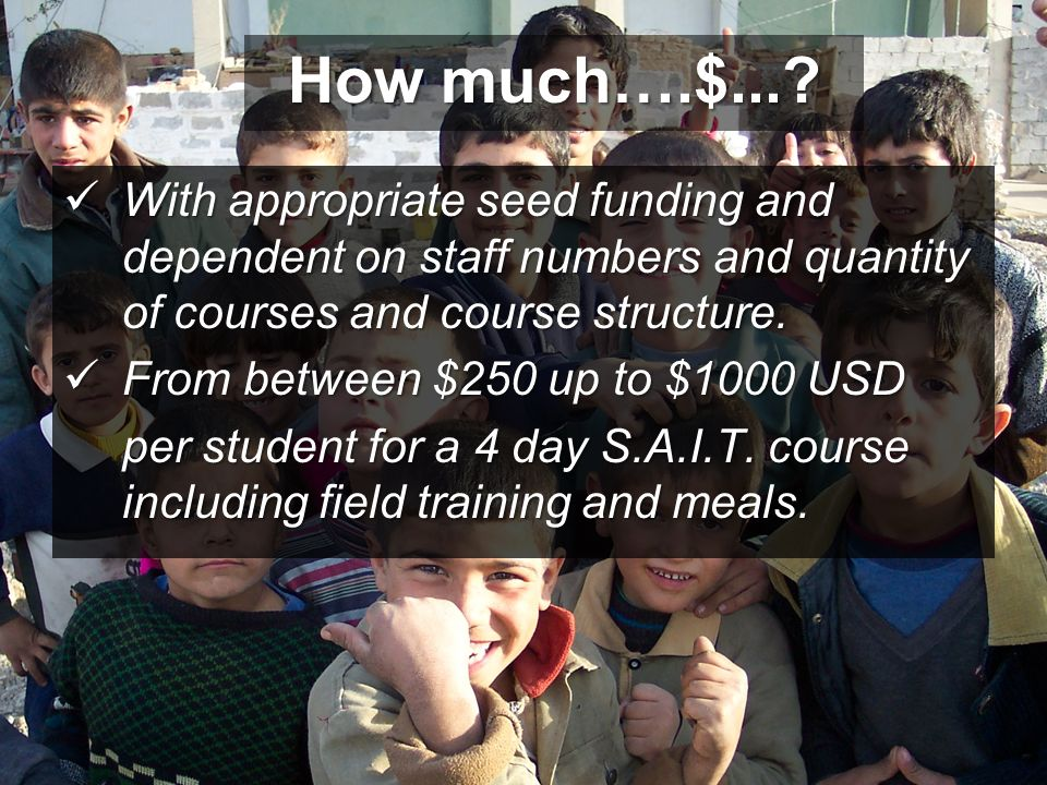 How much….$... With appropriate seed funding and dependent on staff numbers and quantity of courses and course structure.