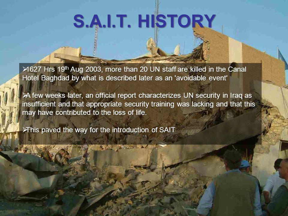 S.A.I.T. HISTORY
