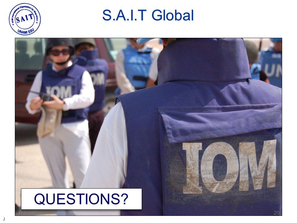 S.A.I.T Global QUESTIONS 28/03/2017 20 J