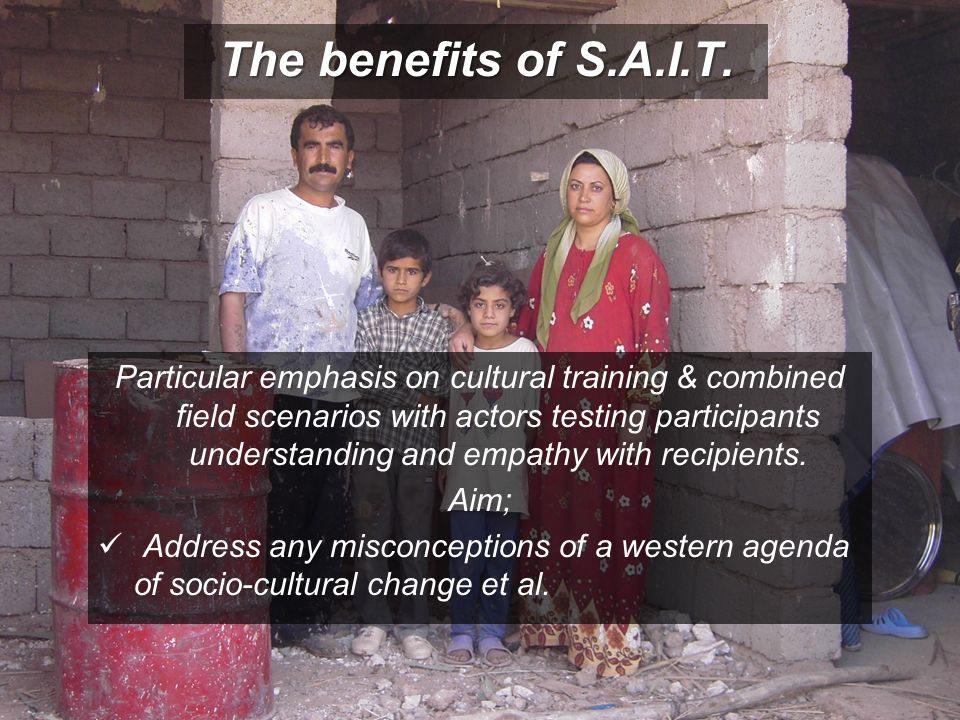 The benefits of S.A.I.T.