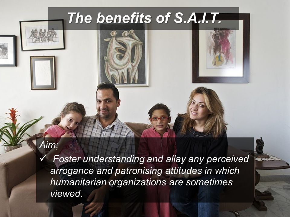 The benefits of S.A.I.T. Aim;