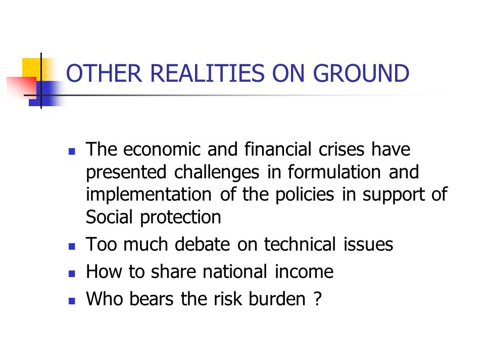 OTHER REALITIES ON GROUND