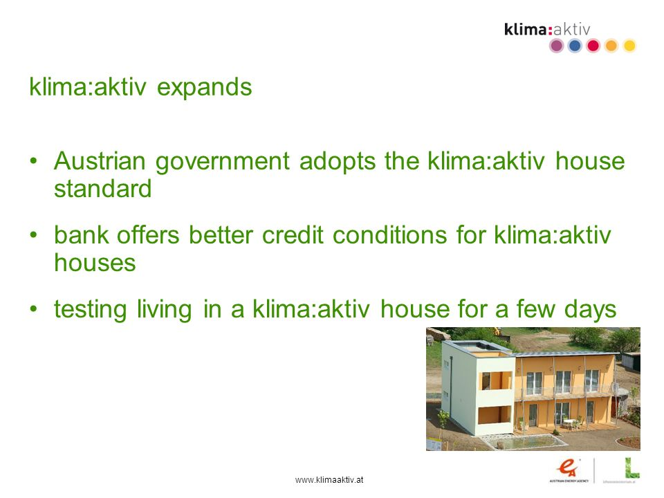 Austrian government adopts the klima:aktiv house standard