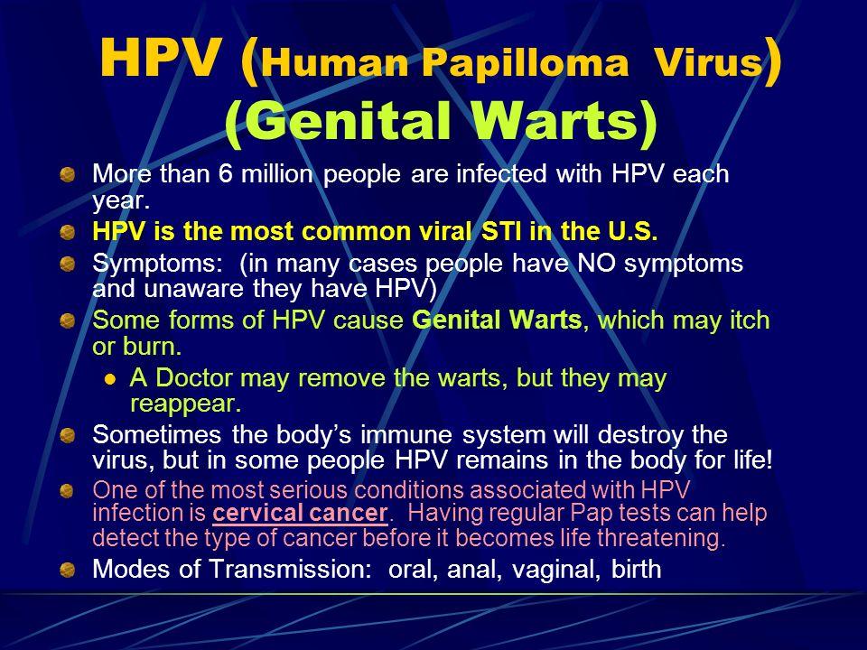 HPV (Human Papilloma Virus) (Genital Warts)
