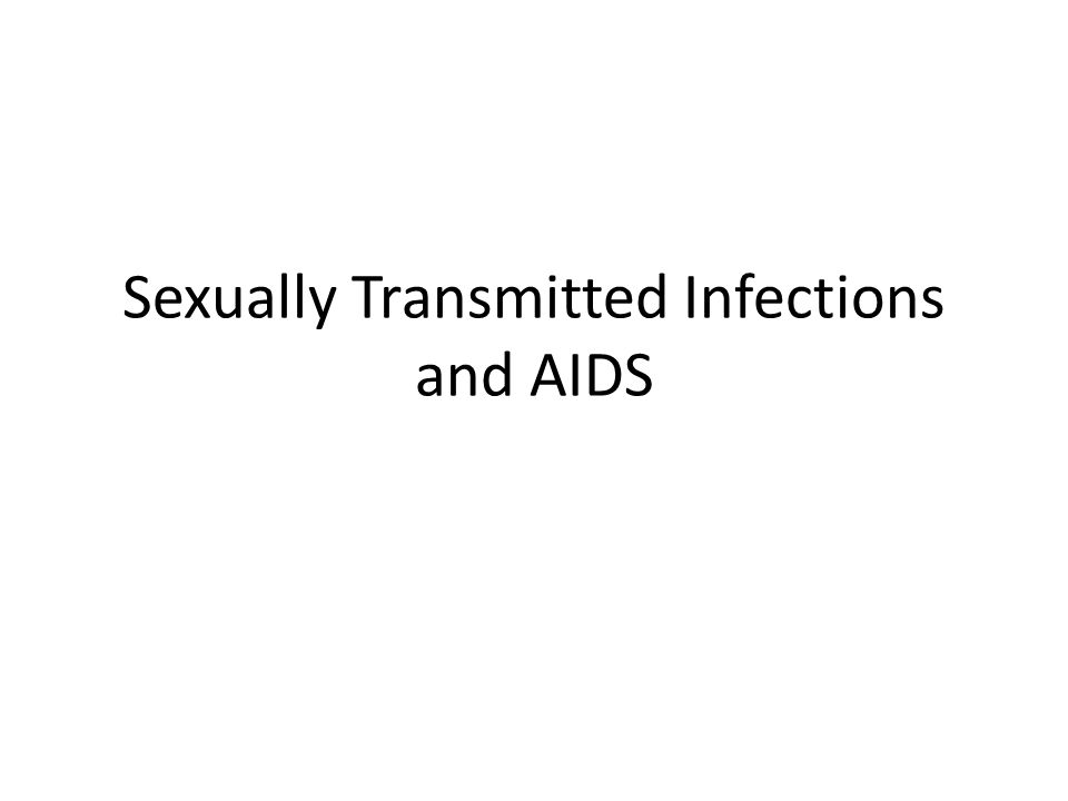 HIV and Sexually Transmitted Diseases STDs