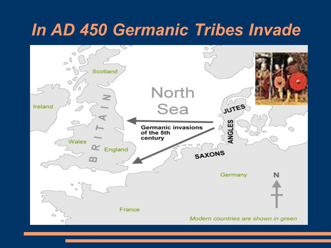 In AD 450 Germanic Tribes Invade