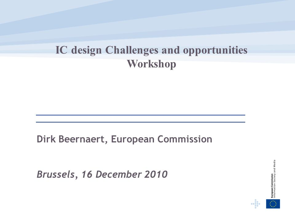Dirk Beernaert, European Commission Brussels, 16 December 2010