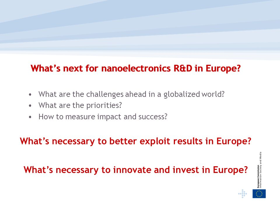 What's next for nanoelectronics R&D in Europe