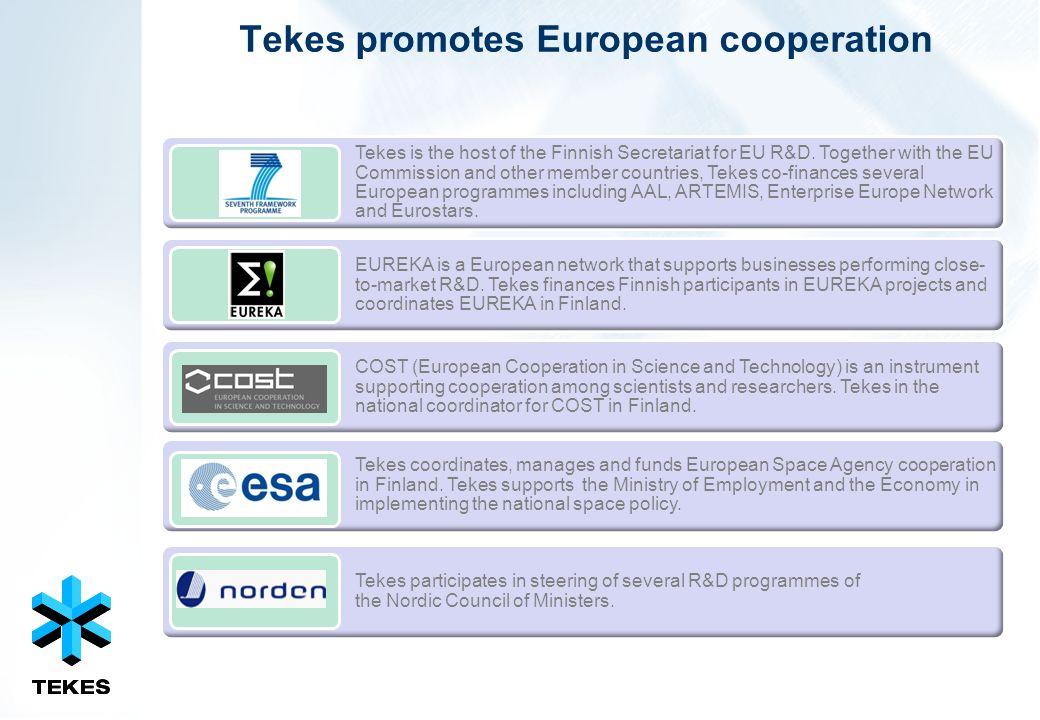 Tekes promotes European cooperation