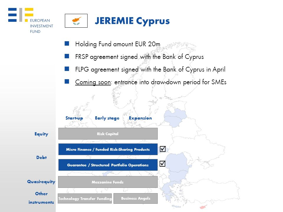 JEREMIE Cyprus   Holding Fund amount EUR 20m